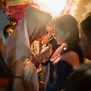 """The """"ruhsat"""", the emotional  time when the bride says good bye to the close members of her family before moving to the groom's home."""