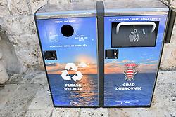 Recycling & waste bins, Dubrovnik, Croatia, July 2018