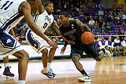 FORT WORTH, TX - JANUARY 7: Jevon Thomas #5 of the Kansas State Wildcats drives to the basket against the TCU Horned Frogs on January 7, 2014 at Daniel-Meyer Coliseum in Fort Worth, Texas.  (Photo by Cooper Neill/Getty Images) *** Local Caption *** Jevon Thomas