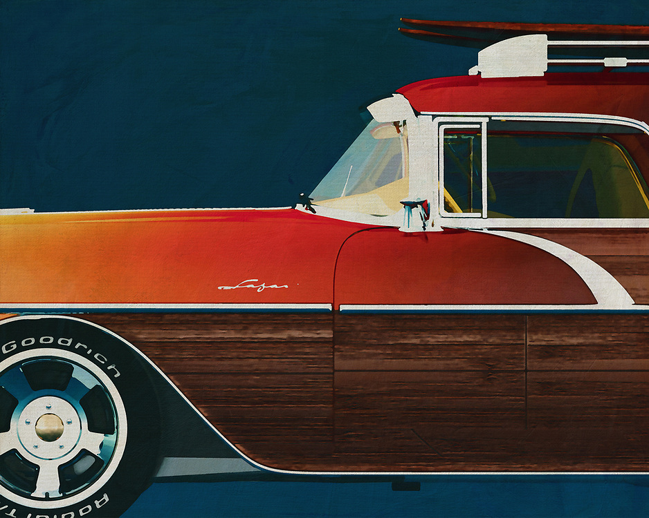 ;The Pontiac Safari Station Wagon Surfer Edition 1956 is an outsider among classic cars. This detail painting is best shown in an interior that reflects adventure and love for the sea –<br /> <br /> <br /> BUY THIS PRINT AT<br /> <br /> FINE ART AMERICA<br /> ENGLISH<br /> https://janke.pixels.com/featured/pontiac-safari-station-wagon-surfer-edition-1956-jan-keteleer.html<br /> <br /> WADM / OH MY PRINTS<br /> DUTCH / FRENCH / GERMAN<br /> https://www.werkaandemuur.nl/nl/shopwerk/Pontiac-Safari-Station-Wagon-Surfer-Edition-1956/528897/132