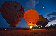 Balloons ready for takeoff at sunrise north of Cairns.