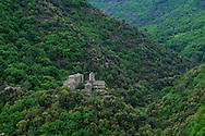 France, Languedoc Roussillon, Lozère (48), Cevennes, Saint-Germain-de-Calberte, le château de Saint Pierre