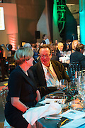 GILLIAN FALLOR; LORD MAURICE SAATCHI, Action Against Cancer 'A Voyage of Discovery' fundraising dinner at the Science Museum on Wednesday 14 October 2015.