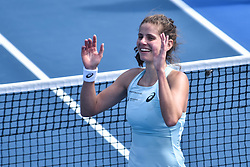 January 7, 2018 - Auckland, Auckland, New Zealand - Julia Goerges of German reacts after wining her final match against Caroline Wozniacki of Denmark during the WTA Women's Tournament at ASB Centre Count in Auckland, New Zealand on Jan 7, 2018.  She wins the match, beating Caroline Wozniacki 6-4 7-6. (Credit Image: © Shirley Kwok/Pacific Press via ZUMA Wire)