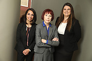 SHOT 12/4/19 11:15:21 AM - McGuane & Hogan, P.C., a Colorado family law firm located in Denver, Co. Includes attorneys Kathleen Ann Hogan, Halleh T. Omidi and Katie P. Ahles. (Photo by Marc Piscotty / © 2019)