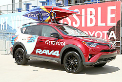 April 29, 2018 - Commerce City, Colorado - A Toyota RAV4 decked out in Colorado colors sits in the stadium prior to the start of action in the MLS soccer game between Orlando City SC and the Colorado Rapids at Dick's Sporting Goods Park in Commerce City, Colorado (Credit Image: © Carl Auer via ZUMA Wire)