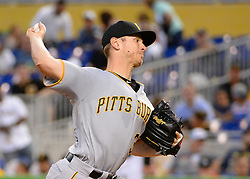 April 18, 2018 - Miami, FL, U.S. - MIAMI, FL - APRIL 13: Pittsburgh Pirates starting pitcher Chad Kuhl (39) delivers a pitch to the plate during  a  Major League Baseball game between the Miami Marlins and the Pittsburgh Pirates on April 13, 2018  at Marlins Park in Miami, FL  (Photo by Juan Salas/Icon Sportswire) (Credit Image: © Juan Salas/Icon SMI via ZUMA Press)