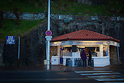 Le P'tit Cafe de la Grande in the resort town of Biarritz, in the Basque region of France, March 2013