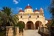 The Greek Orthodox Metropolitan church of Aegina, Saronic Islands, Greece .<br /> <br /> If you prefer to buy from our ALAMY PHOTO LIBRARY  Collection visit : https://www.alamy.com/portfolio/paul-williams-funkystock/aegina-greece.html <br /> <br /> Visit our GREECE PHOTO COLLECTIONS for more photos to download or buy as wall art prints https://funkystock.photoshelter.com/gallery-collection/Pictures-Images-of-Greece-Photos-of-Greek-Historic-Landmark-Sites/C0000w6e8OkknEb8