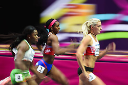 March 2, 2018 - Birmingham, Gangwon, United Kingdom - Yorgelis Rodríguez ofCuba and ivona Dadic ofAustria at 60m Hurdles Pentathlon at World indoor Athletics Championship 2018, Birmingham, Englandon March 2, 2018. (Credit Image: © Ulrik Pedersen/NurPhoto via ZUMA Press)