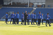 Israel team looking at the ground and pitch during the UEFA European Under 17 Championship 2018 match between England and Israel at Proact Stadium, Whittington Moor, United Kingdom on 4 May 2018. Picture by Mick Haynes.