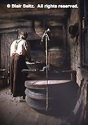 Replica of blacksmith shop at museum, Drake Well Museum, Titusville, Venango Co., PA