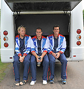 Windsor, Great Britain,   left to right Andy TRGGS HODGE, James FOAD, Greg SEARLE, Team GB, 2012 Olympic games, London, Rowing Team announcement  photocall  The Long Walk, Windsor Great Park, Windsor, Berks Wednesday  06/06/2012 . . [Mandatory Credit. Peter Spurrier/Intersport Images]