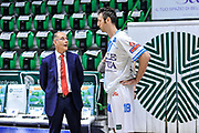 DESCRIZIONE : Campionato 2014/15 Dinamo Banco di Sardegna Sassari - Openjobmetis Varese<br /> GIOCATORE : Attilio Caja Manuel Vanuzzo<br /> CATEGORIA : Fair Play Before Pregame Ritratto<br /> SQUADRA : Dinamo Banco di Sardegna Sassari<br /> EVENTO : LegaBasket Serie A Beko 2014/2015<br /> GARA : Dinamo Banco di Sardegna Sassari - Openjobmetis Varese<br /> DATA : 19/04/2015<br /> SPORT : Pallacanestro <br /> AUTORE : Agenzia Ciamillo-Castoria/L.Canu<br /> Predefinita :