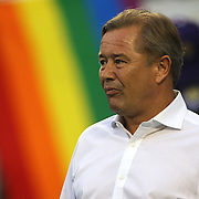ORLANDO, FL - JUNE 18:  Orlando City head coach Adrian Heath is seen during warmups prior to an MLS soccer match between the San Jose Earthquakes and the Orlando City SC at Camping World Stadium on June 18, 2016 in Orlando, Florida. (Photo by Alex Menendez/Getty Images) *** Local Caption *** Adrian Heath