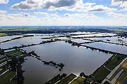 Nederland, Zuid-Holland, Gemeente Reeuwijk, 15-07-2012; Reeuwijksche Plassen (Reeuwijkse Plassen), Gouda aan de horizon...De veenplassen zijn ontstaan door het afgraven en wegbaggeren van het veen voor het winnen van turf. .Recreation area and peat lakes Reeuwijksche Plassen are created by peat extraction..luchtfoto (toeslag), aerial photo (additional fee required).foto/photo Siebe Swart