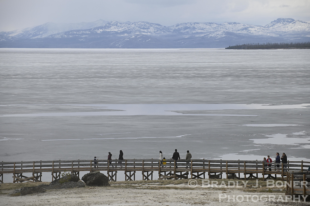 Yellowstone Lake from West Thumb Geyser Basin in Yellowstone National Park