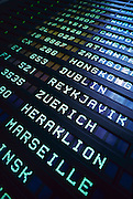 """Frankfurt, Germany international airport departure board listing flights, gates and destinations. - To license this image, click on the shopping cart below - -- Determine pricing and license this image, simply by clicking """"Add To Cart"""" below --"""