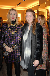Left to right, ALLEGRA HICKS and her daughter ANGELICA HICKS at a party to celebrate the publication of 'Parisian Chic: A Style guide' by Ines de La Fressange held at Roger Vivier, Sloane Street, London on 5th Apreil 2011.