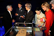 De Japanse prins Akishino en prinses Kiko openen samen met  Prins Constantijn en Prinses Laurentien de tentoonstelling Van hier tot Tokio in de Koninklijke Bibliotheek in den Haag. /// The Japanese Princess Kiko and Prince Akishino open with Prince Constantijn and Princess Laurentien the exhibition From Here to Tokyo in the Royal Library in The Hague.<br />
