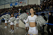 Khabarovsk, Russia, 02/03/2004.&#xD;Cheer-leaders support the city ice hockey team play in the new Platinum Stadium owned by Amur Company, the main city employer.<br />
