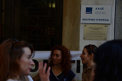 June 1, 2017 - Athens, Attiki, Greece - Greek federation of tax officials is on 24 hour strike against austerity measures and cuts in public spending in general. (Credit Image: © George Panagakis/Pacific Press via ZUMA Wire)