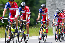 Cyclists of KK Adria Mobil during Stage 2 of 23rd Tour of Slovenia 2016 / Tour de Slovenie from Nova Gorica to Golte  (217,2 km) cycling race on June 17, 2016 in Slovenia. Photo by Urban Urbanc / Sportida