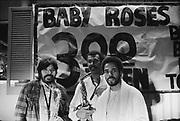 9702-52-25. Jim Pepper, Sonny King and Dennis Bradford at the Kingston Tavern on West Burnside in Portland. June 29, 1979.