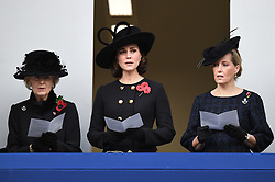 Members of The Royal Family attend Remembrance Sunday at The Cenotaph, London, UK, on the 12th November 2017. 12 Nov 2017 Pictured: Princess Alexandra, Catherine, Duchess of Cambridge, Kate Middleton, Sophie, Countess of Wessex. Photo credit: James Whatling / MEGA TheMegaAgency.com +1 888 505 6342