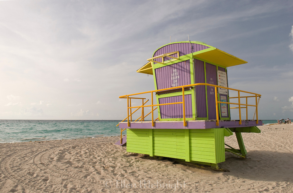 Colorful Lifeguard Hut at Miami Beach, Florida