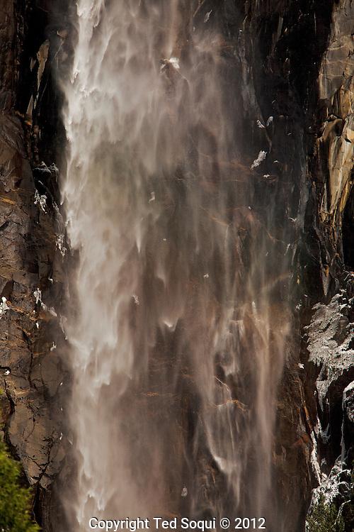 Detail of Bridalveil Falls at Yosemite National Park.