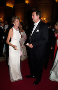 Lord and Lady Charles Spencer-Churchill, Ball at Blenheim Palace in aid of the Red Cross, Woodstock, 26 June 2004. SUPPLIED FOR ONE-TIME USE ONLY-DO NOT ARCHIVE. © Copyright Photograph by Dafydd Jones 66 Stockwell Park Rd. London SW9 0DA Tel 020 7733 0108 www.dafjones.com