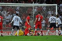 Photo: Tony Oudot/Richard Lane Photography.  England v Czech Republic. International match. 20/08/2008. <br /> Joe Cole (20) scores England a late equaliser