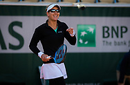 Nicole Melichar of the United States in action during the doubles quarter-final at the Roland Garros 2020, Grand Slam tennis tournament, on October 7, 2020 at Roland Garros stadium in Paris, France - Photo Rob Prange / Spain ProSportsImages / DPPI / ProSportsImages / DPPI