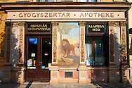 The Lion Pharmacy with Zolnay tiles - Sopron, Hungary .<br /> <br /> Visit our HUNGARY HISTORIC PLACES PHOTO COLLECTIONS for more photos to download or buy as wall art prints https://funkystock.photoshelter.com/gallery-collection/Pictures-Images-of-Hungary-Photos-of-Hungarian-Historic-Landmark-Sites/C0000Te8AnPgxjRg