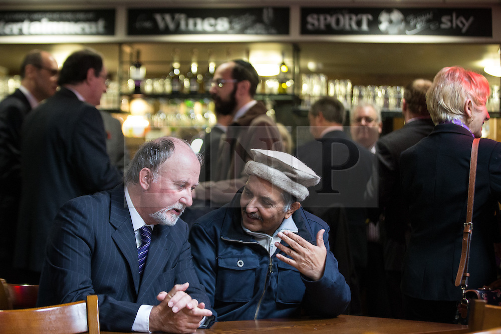 © Licensed to London News Pictures . 03/11/2015 . Oldham , UK . Party activists at the launch of the UKIP campaign for the seat of Oldham West and Royton , at the Railway Hotel in Royton . The by-election has been triggered by the death of MP Michael Meacher . Photo credit : Joel Goodman/LNP