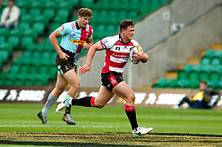 Jacob Morris of Gloucester Rugby runs with the ball - Mandatory by-line: Robbie Stephenson/JMP - 28/07/2017 - RUGBY - Franklin's Gardens - Northampton, England - Harlequins v Gloucester Rugby - Singha Premiership Rugby 7s