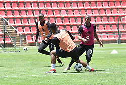 South Africa: Johannesburg: Orlando Pirates player Thabo Qalinge during the a training session at the Rand Stadium in preparation for the much anticipating Soweto derby on the weekend, Gauteng.<br /> Picture: Itumeleng English/African News Agency (ANA)