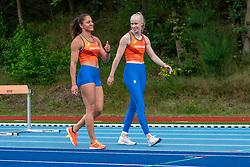 Naomi Sedney, Marije van Hunenstijn in action during the Press presentation of the olympic team Athletics on July 8, 2021 in Papendal Arnhem