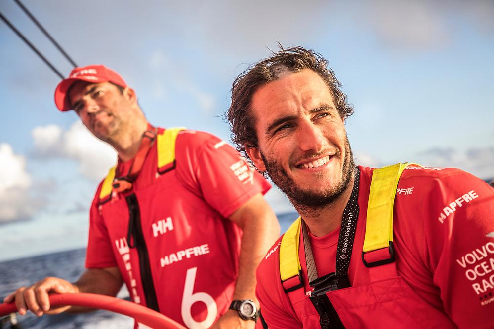 Leg 02, Lisbon to Cape Town, day 10, on board MAPFRE. Photo by Ugo Fonolla/Volvo Ocean Race. 14 November, 2017