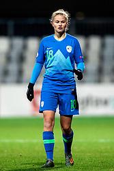 Lara Klopcic of Slovenia during football match between Slovenia and Estonia in Qualification for UEFA Women's Euro 2022, on December 1, 2020 in Arena Bonifika, Koper, Slovenia. Photo by Matic Klansek Velej / Sportida
