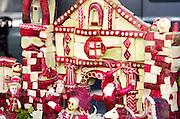 Two holidays in one: Dia de los Muertos carved in radishes for Noche de Rabanos, Oaxaca, Mexico.