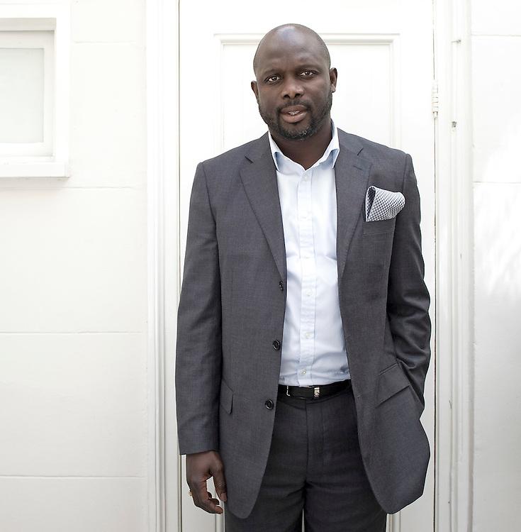 Nederland, Amsterdam, 26-04-2010.<br /> George Manneh Oppong Ousman Weah, ex-voetballer uit Liberia.<br /> Foto : Klaas Jan van der Weij