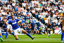 Daniel Johnson of Preston North End fires a shot at goal  - Mandatory byline: Matt McNulty/JMP - 07966386802 - 22/08/2015 - FOOTBALL - Deepdale -Preston,England - Preston North End v Ipswich Town - Sky Bet Championship