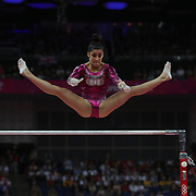 Alexandra Raisman, USA, in action on the Uneven Bars during the Women's Individual All-Around competition at North Greenwich Arena, during the London 2012 Olympic games. London, UK. 2nd August 2012. Photo Tim Clayton