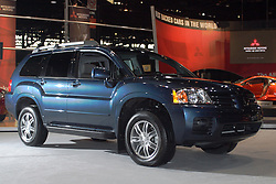 06 February 2005:  2006 Mitsubishi Endeavor SUV<br /> <br /> First staged in 1901, the Chicago Auto Show is the largest auto show in North America and has been held more times than any other auto exposition on the continent.  It has been  presented by the Chicago Automobile Trade Association (CATA) since 1935.  It is held at McCormick Place, Chicago Illinois