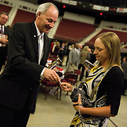 """Stacy Lewis, LPGA star and number one in the world rankings, was inducted into the Arkansas Sports Hall of Fame in Little Rock, AR on March 8, 2013. The ceremony was held at the Verizon Arena. For more images, please search my archive for """"Stacy Lewis"""""""