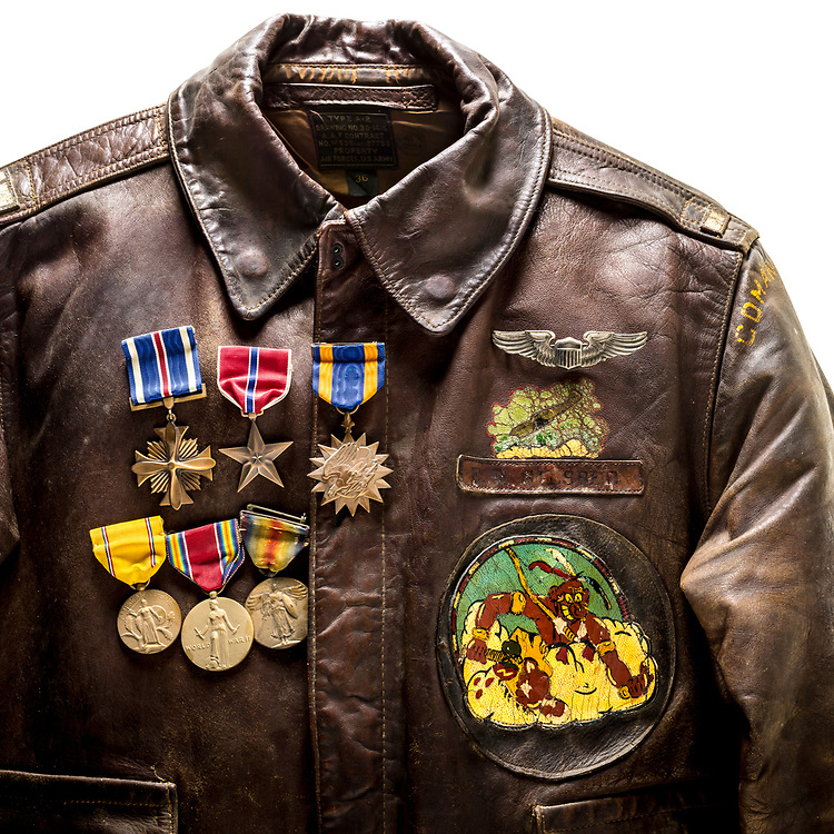 Lt. Edwin Silsbee was a P-47 pilot in North Africa and Italy duriing WWII, and the Distinguished Flying Cross, the Bronze Star, and the Air Medal are among his war-time decorations.