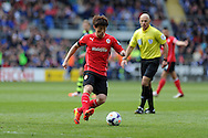 Kim Bo-Kyung of Cardiff city in action. Barclays Premier league match, Cardiff city  v Stoke city at the Cardiff city stadium in Cardiff, South Wales on Saturday 19th April 2014. pic by Andrew Orchard, Andrew Orchard sports photography,