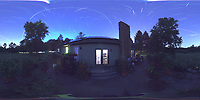 Summertime Night Sky over New Jersey (360 Equirectangular Panorama). Composite of images (20:19-20:59) taken with a Ricoh Theta Z1 camera (ISO 400, dual 2.6 mm fisheye lens, f/2.1, 60 sec).
